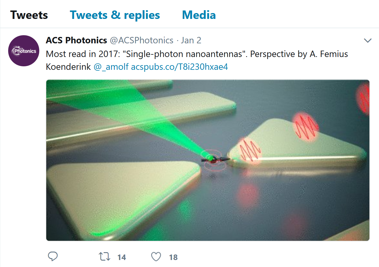 Perspective most read in 2017 in ACS Photonics