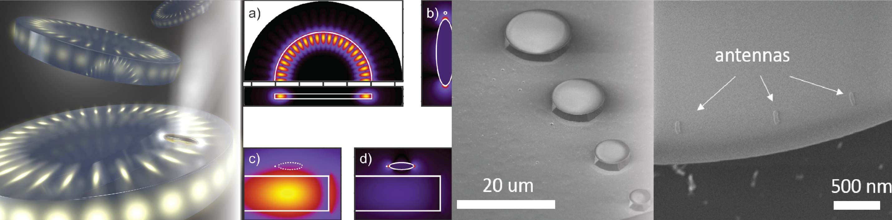 Hybrid nanophotonic architectures